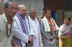Manipur Elections 2017: In a first, BJP President Amit Shah goes door to door seeking votes inImphal