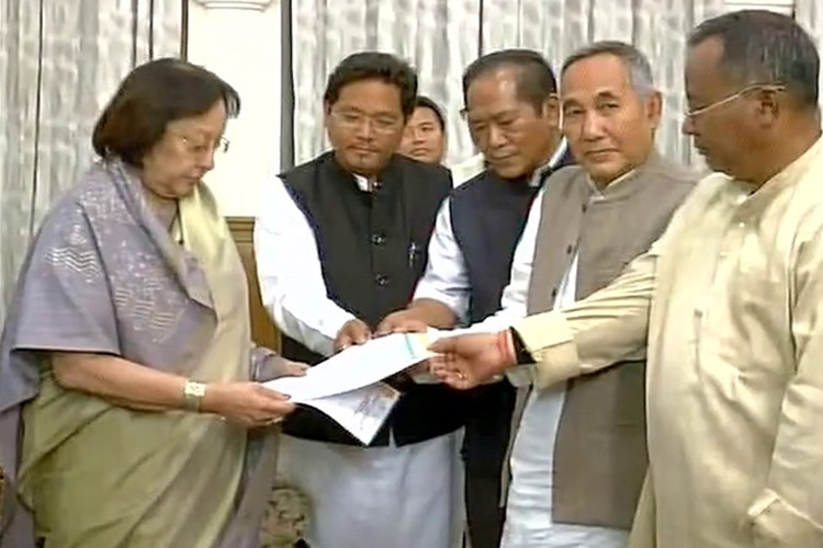 Biren sworn in, Manipur gets first BJP Govt