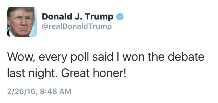 Donald Trump Grammar Fail Tweet | Image for InUth.com