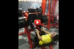Watch: Man breaks his leg while lifting kilos of weight in gym in this viral video