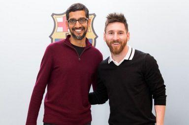 Sundar Pichai and Lionel Messi