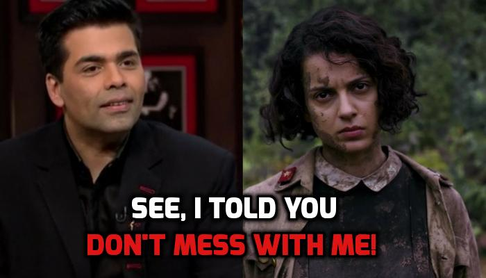 Karan Johar and Kangana Ranaut.