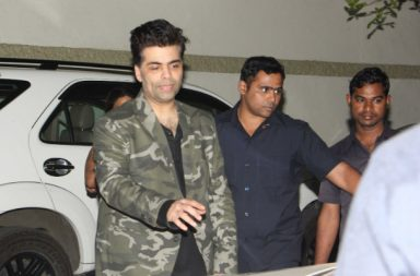 Karan Johar at Alia Bhatt's birthday bash.