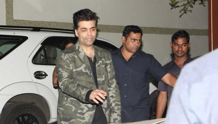 Karan Johar at Alia Bhatt's birthday bash.