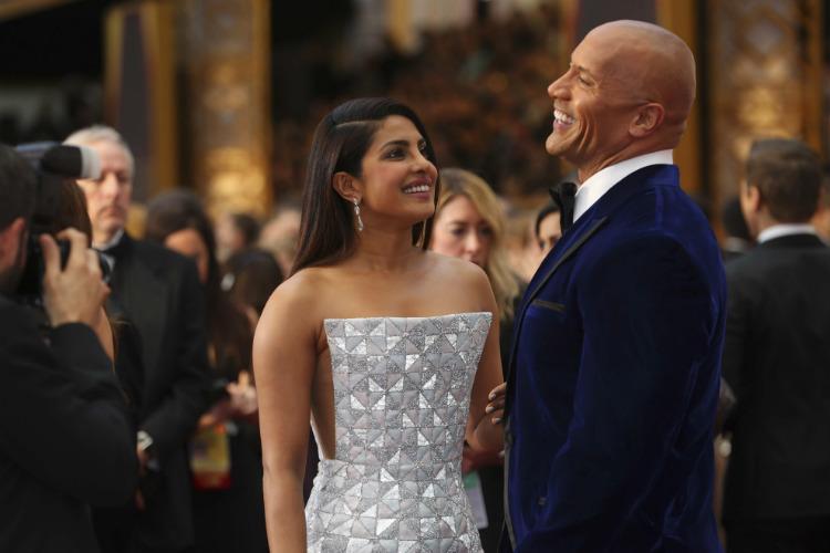 Priyanka Chopra Dwayne The Rock Johnson Oscars 2017