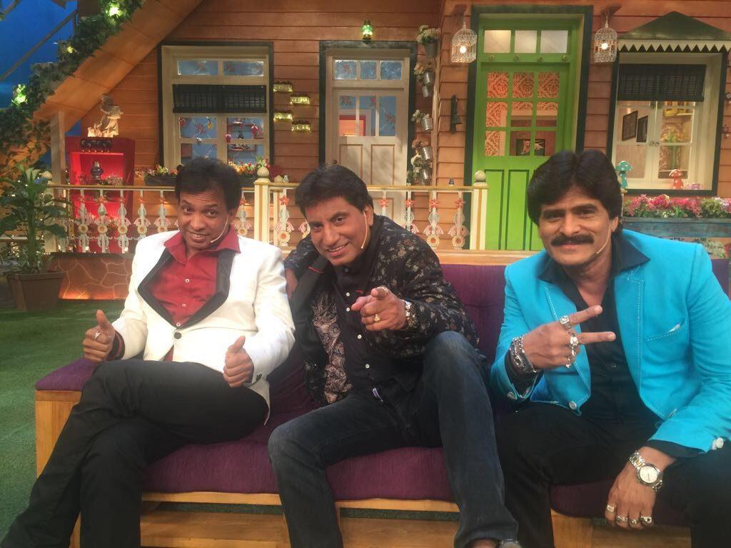 Raju Srivastav onthe sets on The Kapil Sharma Show