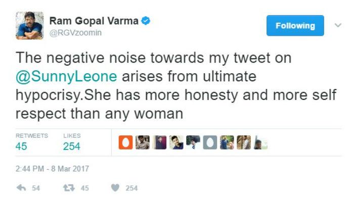 Ram Gopal Varma tweet 1