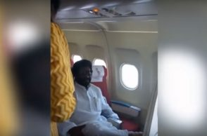 Shiv Sena MP in the plane