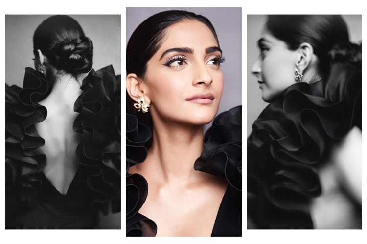 Sonam Kapoor's black dress is bold and sexy, but doesn't look comfortable [Watch]
