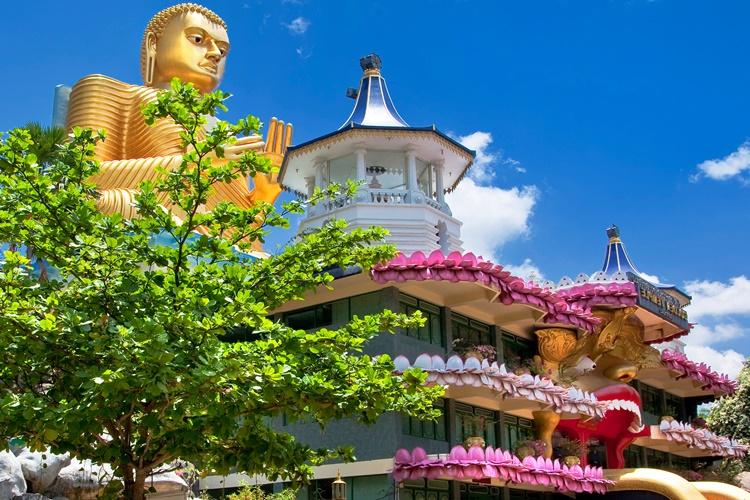 Buddhist Temple in Dambulla, Sri Lanka