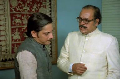 Utpal Dutt and Amol Palekar in a still from the 1979 Bollywood comedy film 'Golmaal'