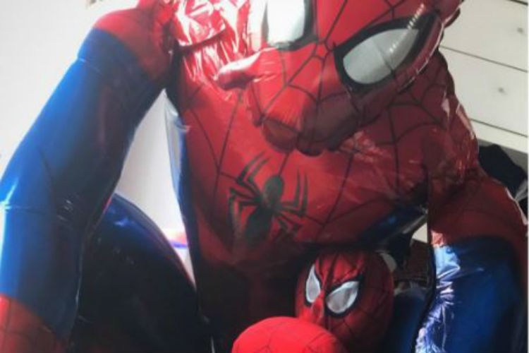 Spot Shah Rukh Khan's super cute son AbRam dressed as Spider-Man in this picture!