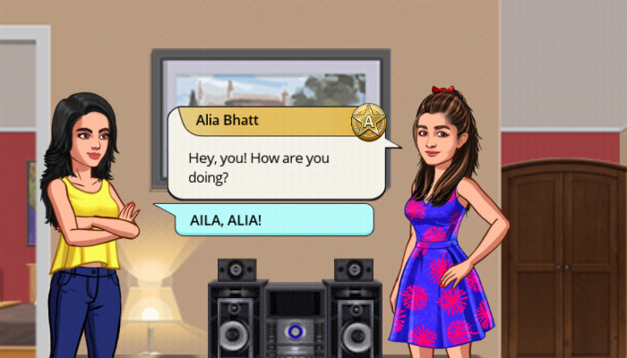 Alia Bhatt in game (Courtesy: Alia Bhatt- Star Life)