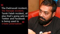 Anurag Kashyap speaks on Gurmehar Kaur row, says social media is being used for politicalpolarisation