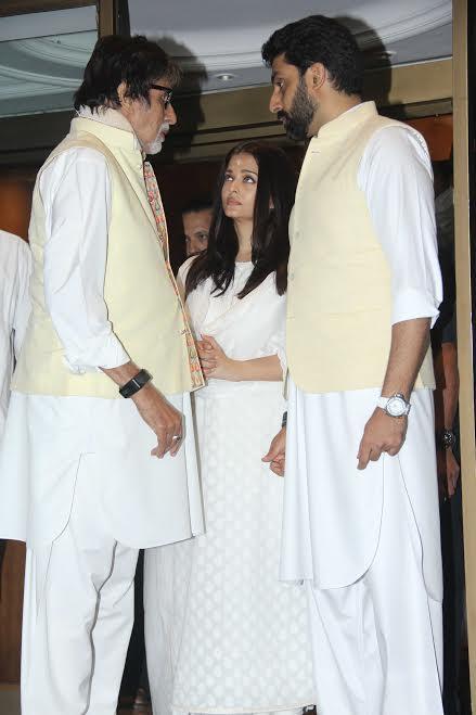 Aishwarya, Amitabh and Abhishek Bachchan