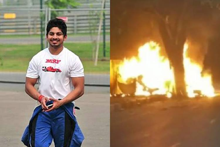 Racer Ashwin Sundar, wife charred to death after BMW auto catches fire