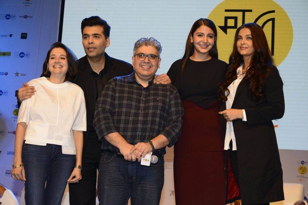 Anupama Chopra, Karan Johar, actors Anushka Sharma and Aishwarya Rai talk about their movie Ae Dil Hai Mushkil, during the Jio MAMI film festival (Photo Courtesy: IANS)