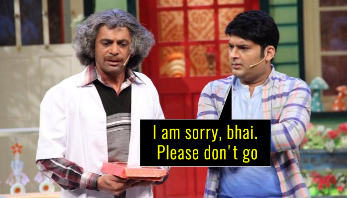 Dear Kapil Sharma, your comedy show will not be the same without Dr Mashoor Gulati aka SunilGrover