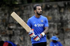 India's KL Rahul during a training session ahead of their test match against South Africa at Feroze Shah Kotla stadium in New Delhi on Dec 1st 2015. Express photo by Ravi Kanojia.