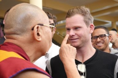 Dalai Lama with Steve Smith