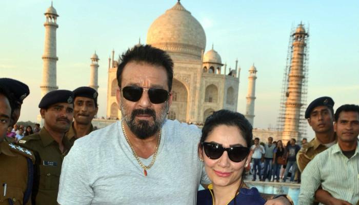 Sanjay Dutt and wife Maanyata in Agra
