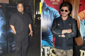Shah Rukh Khan and Sanjay Gupta (Courtesy: IANS)