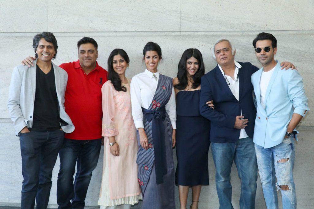"Actors Raj Kumar Yadav, Nimrat Kaur, Ram Kapoor, Sakshi Tanwar and filmmaker Nagesh Kukunoor at the launch of Ekta Kapoor's web series "" ALT Balaji Application"" in New Delhi"