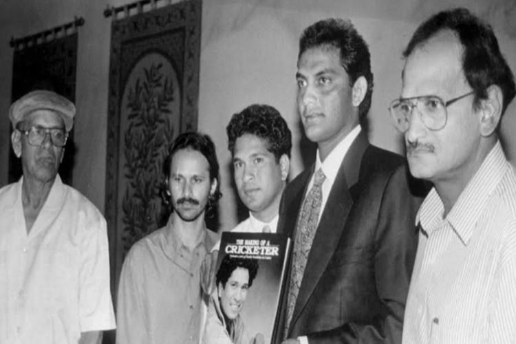 Sachin, Azhar, Ajit Wadekar in one frame!