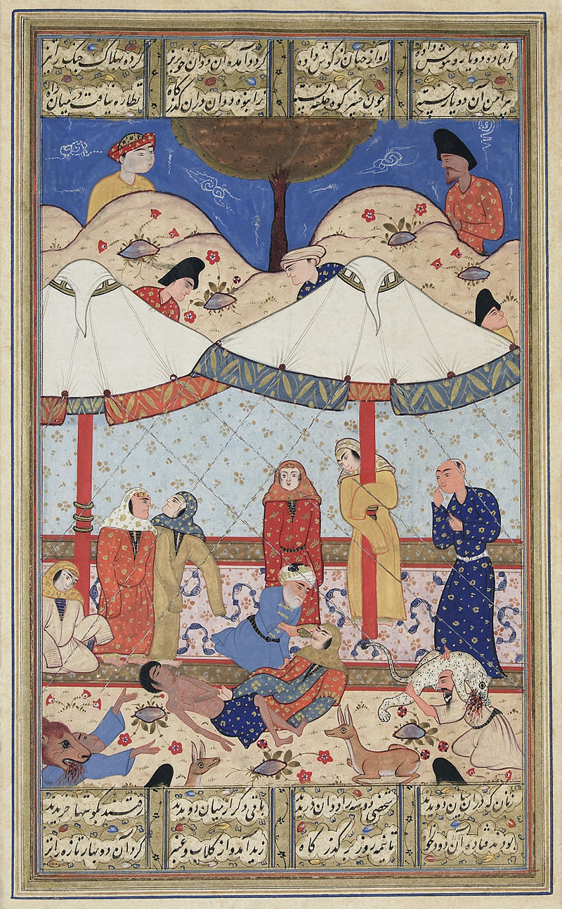 Layla Majnun meet each other for the last time before their death