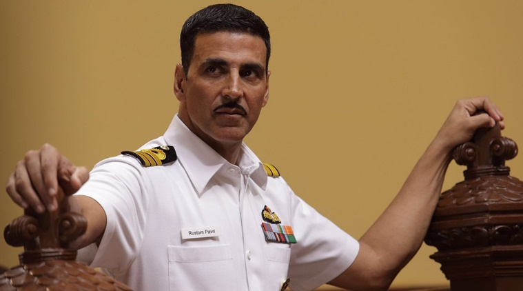 Akshay Kumar in a still from Rustom.