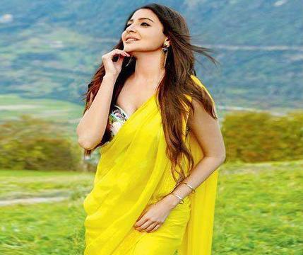 anushka-sharmas-yellow-saree