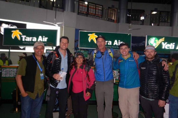 Sangeeta Bahl with her team at Kathmandu International Airport, Nepal