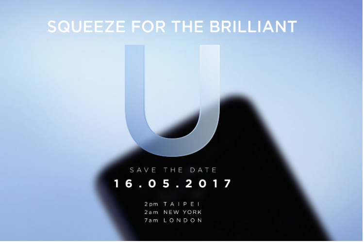 First 'squeezable' smartphone, HTC U to be unveiled on May16