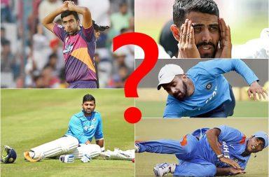 Ravindra Jadeja, R Ashwin, Murali Vijay, KL Rahul, Umesh Yadav, IPL injured