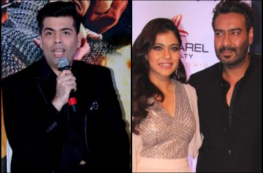 Karan Johar, Kajol and Ajay Devgn