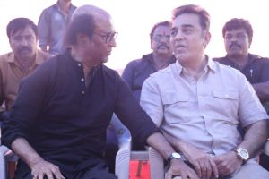 Rajinikanth with Kamal Haasan