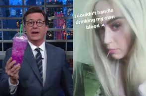 Katy Perry Stephen Colbert Starbucks Unicorn Frappuccino