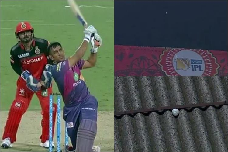 IPL 10 Watch MS Dhoni unleashes 'Beast Mode' and the ball never came back