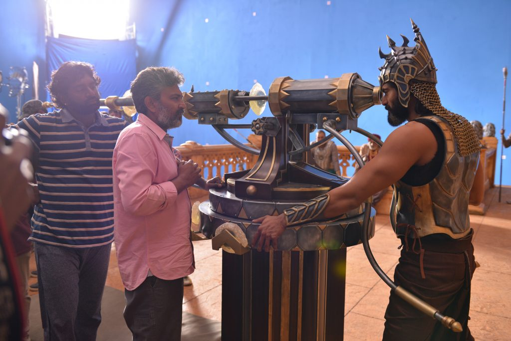 Picture from the sets of Baahubali 2