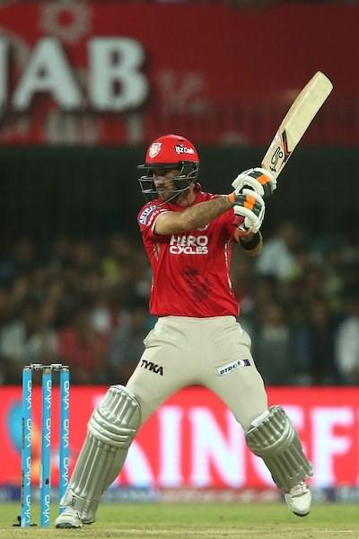 Kings XI Punjab skipper Glenn Maxwell in action during an IPL match against Rising Pune Supergiant (Photo: @IPL Twitter)