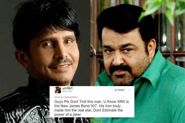 KRK calls Mohanlal 'Chota Bheem' and a 'joker', superstar's fans roast him onTwitter