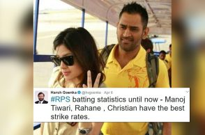 MS Dhoni with wife Sakshi. (Courtesy: Twitter/Chennai Super Kings)