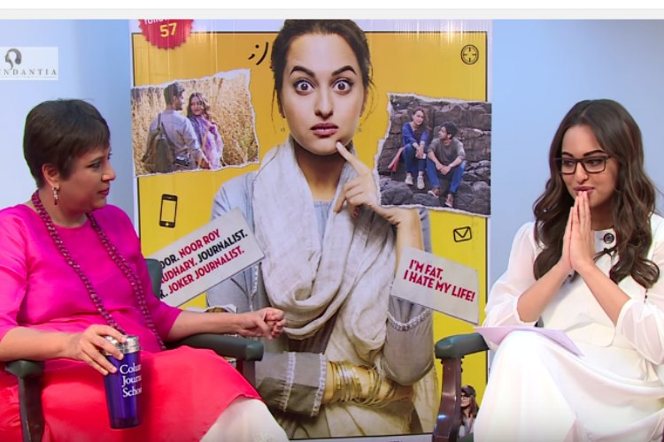 Sonakshi 'Noor' Sinha gets into character, interviews Barkha Dutt and asks about ArnabGoswami