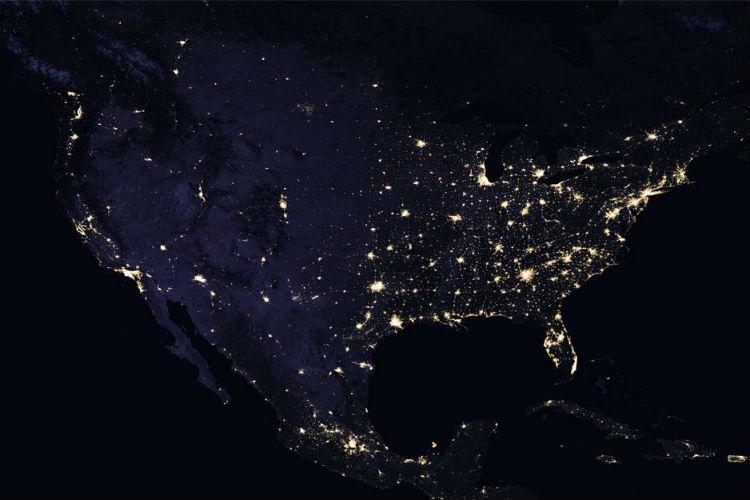 night light footprint north america nasa - photo #18