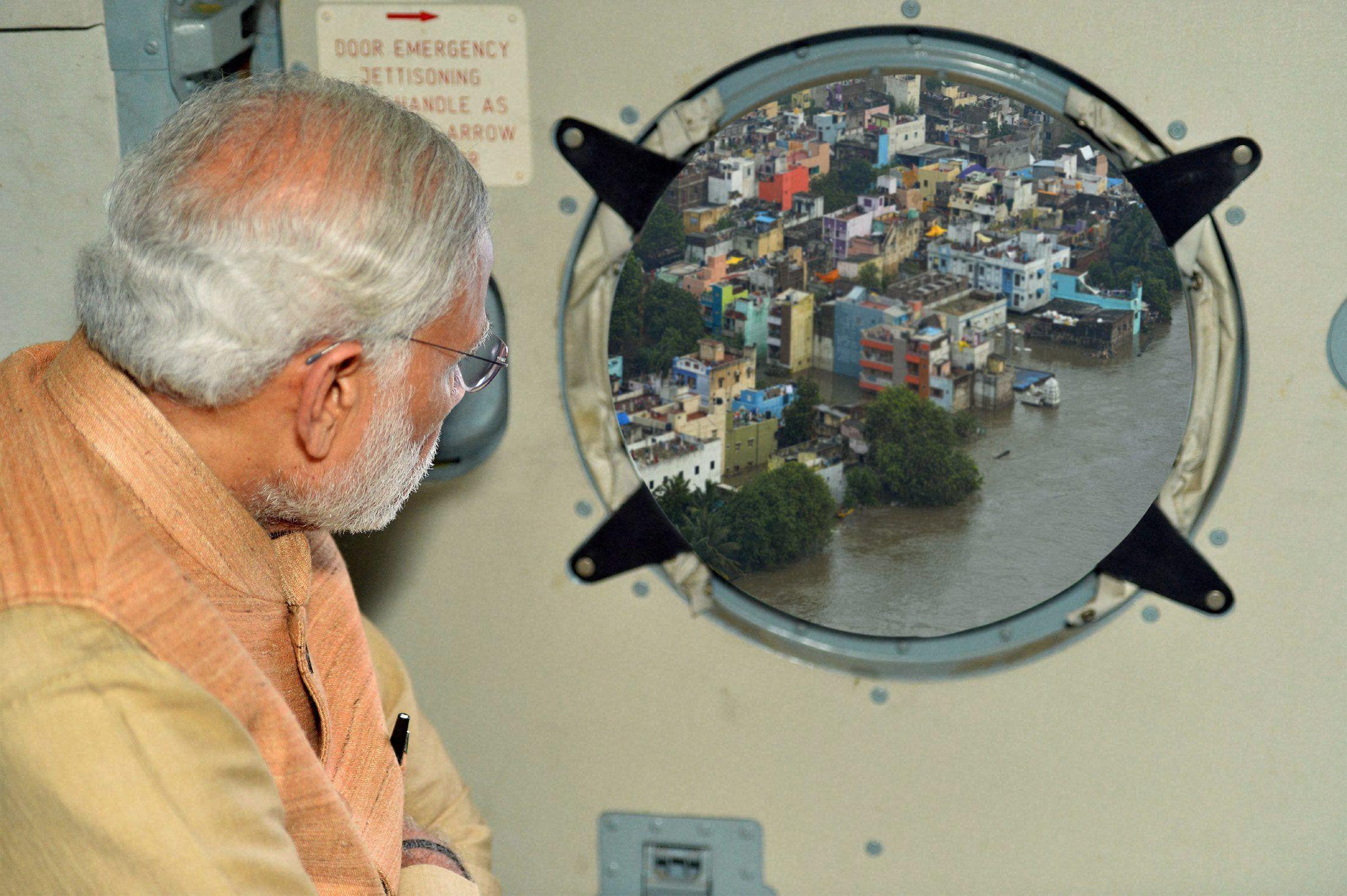PM surveys Chennai