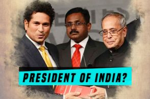 Sachin Tendulkar, Pranab Mukherjee, President of India