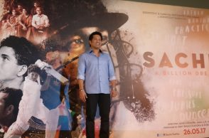 Sachin Tendulkar at the trailer launch of his film. (Twitter/Sachin_The Film)