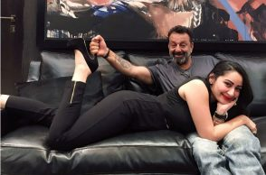 Sanjay Dutt with wife Manyata Dutt