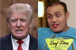 Virender Sehwag, Donald Trump