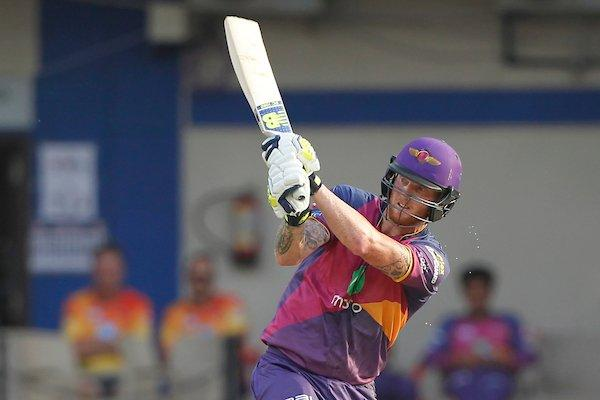 Rising Pune Supergiant player Ben Stokes in action during an IPL match against Kings XI Punjab (Photo: @IPL Twitter)